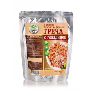 Каша Гречневая с говядиной стерилизованная 250 гр (кронидов)