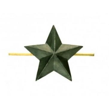Звезда на погоны малая гладкая 13 мм защитная