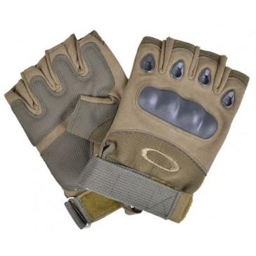 Перчатки тактические OAKLEY с открытыми пальцами (пустыня)