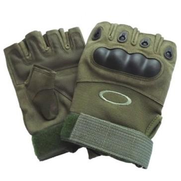 Перчатки тактические OAKLEY с открытыми пальцами (олива)