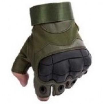 Перчатки тактические Outdoor Tactics с открытыми пальцами (хаки)
