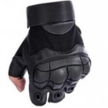 Перчатки тактические Outdoor Tactics с открытыми пальцами (черные)