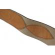Ремень офицерский кожаный портупея с латунной пряжкой (коричневый)