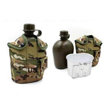 Фляга с котелком и чехлом образца НАТО 1 литр