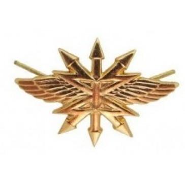 Эмблема петличная ВС Войска Связи золотистая
