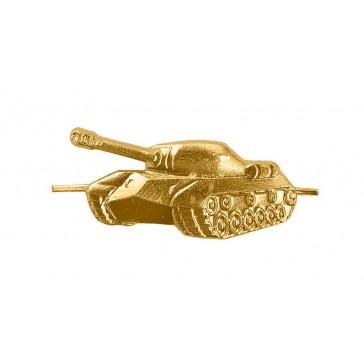 Эмблема петличная Танковые войска левая (золото)