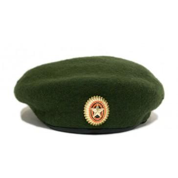 Берет общевойсковой бесшовный армейский хаки БТК - групп ВКБО (уставной)