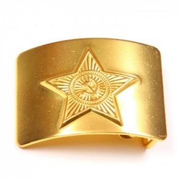 Пряжка бляха латунная солдатская (звезда СССР)