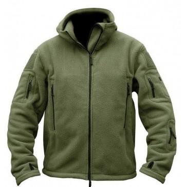 Куртка флисовая с капюшоном (олива)