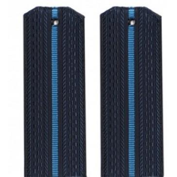 Погоны ВКC,ВВС синие 1 голубая полоска на офисную форму младшего офицерского состава пластик (уставные)