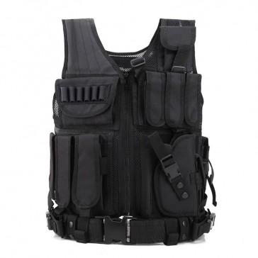 Разгрузочный тактический жилет 09 (черный)