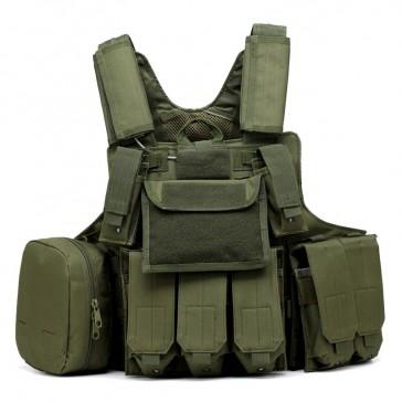 Разгрузочный боевой тактический жилет Ciras 04 (олива)