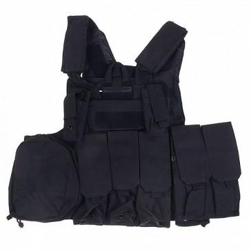 Разгрузочный боевой тактический жилет Ciras 04 (черный)