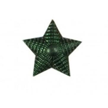Звезда на погоны малая  рифленая 13 мм защитная