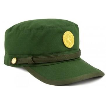 Кепка офисная зеленая с вышитой кокардой БТК-Групп ВКБО (Уставная)