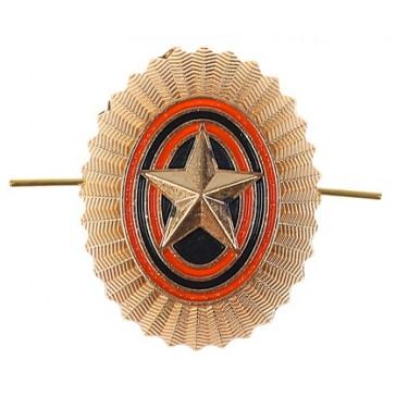 Кокарда РА со звездой золотистая