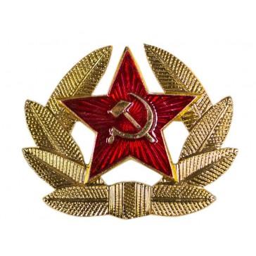 Кокарда солдатская Советской Армии СССР золотистая