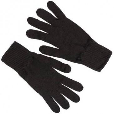Перчатки зимние полушерстяные одинарной вязки для военнослужащих черные БТК-групп ВКБО (уставные)