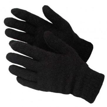 Перчатки зимние полушерстяные двойной вязки для военнослужащих черные БТК-групп ВКБО (уставные)