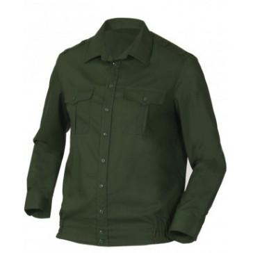 Рубашка офисная зеленая длинный рукав БТК-групп ВКБО (уставная)
