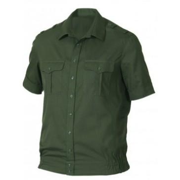 Рубашка офисная зеленая короткий рукав БТК-групп ВКБО (уставная)