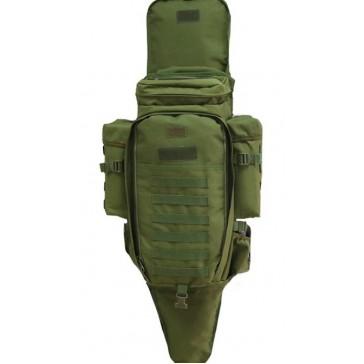 Рюкзак тактический с чехлом для ружья 50 литров (олива)