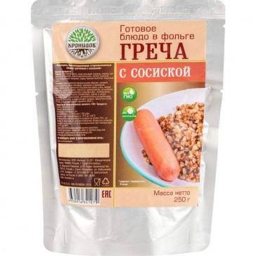 Сосиски с гречневой кашей стерилизованные 250 гр (кронидов)
