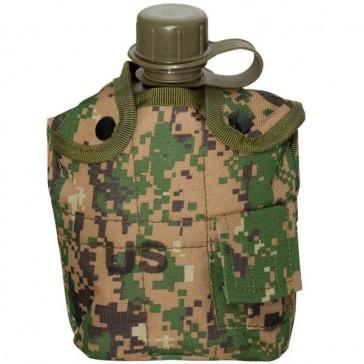 Фляга с котелком и чехлом образца НАТО 1 литр (зеленый пиксель)
