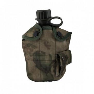Фляга с котелком и чехлом образца НАТО 1 литр (зеленый мох)