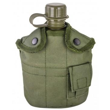 Фляга с котелком и чехлом образца НАТО 1 литр (олива)