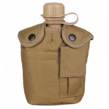 Фляга с котелком и чехлом образца НАТО 1 литр (пустыня)
