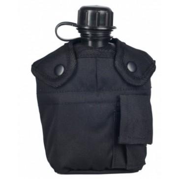 Фляга с котелком и чехлом образца НАТО 1 литр (черная)