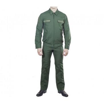 Костюм офисный зеленый длинный рукав ГОСТ БТК-групп ВКБО (уставной)