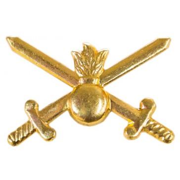 Эмблема петличная ВС Сухопутные войска золотистая