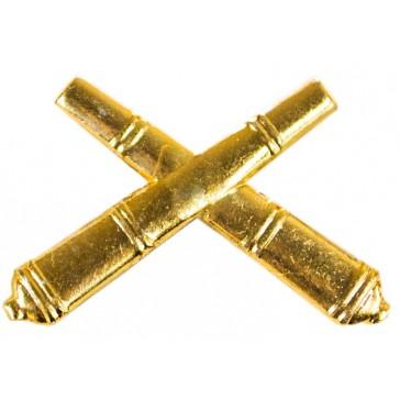 Эмблема петличная ВС Ракетных войск и Артиллерии (золотистая)