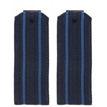 Погоны ВКС,ВВС синие 2 голубые полоски пластик (уставные)