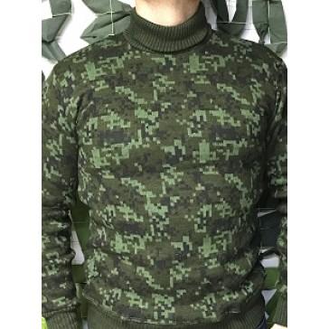 Свитер с горлом вязанный армейский (цифра)