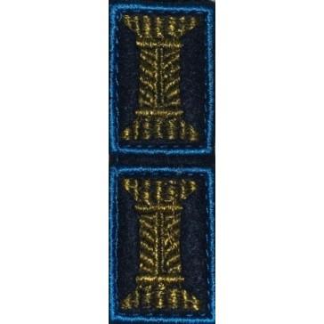 Петличные эмблемы (катушки) ВКС ВДВ офицерские синие на липучке (уставные)