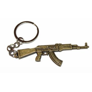 Брелок сувенир автомат АК-47 на цепочке