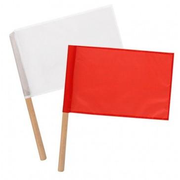 Флажки сигнальные армейские в чехле (красный и белый)