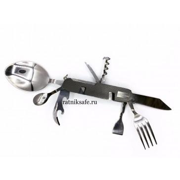 Нож мультифункциональный ложка-вилка складной (9 предметов)