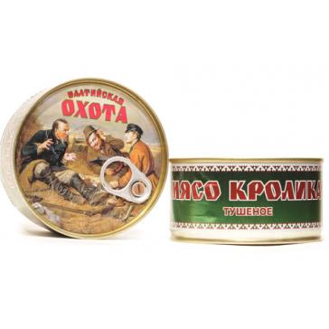 """Мясо Кролика Тушеное """"ОХОТА"""" 325 Гр"""