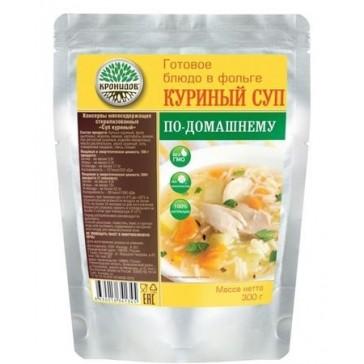 Суп куриный по-домашнему стерилизованный первое блюдо 300 гр (кронидов)