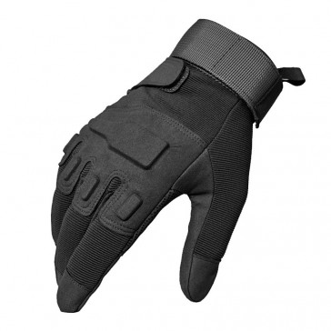 Перчатки тактические BLACKHAWK с закрытыми пальцами (чёрные)